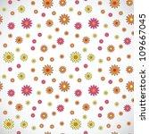 square light floral retro... | Shutterstock . vector #109667045