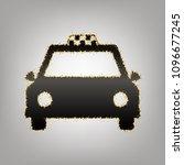 taxi sign illustration. vector. ... | Shutterstock .eps vector #1096677245
