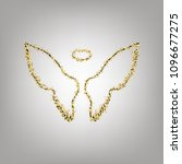 wings sign illustration. vector.... | Shutterstock .eps vector #1096677275