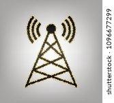 antenna sign illustration.... | Shutterstock .eps vector #1096677299