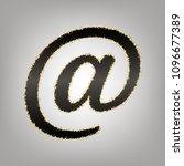 mail sign illustration. vector. ... | Shutterstock .eps vector #1096677389