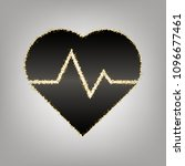 heartbeat sign illustration.... | Shutterstock .eps vector #1096677461