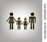 family sign. vector. blackish... | Shutterstock .eps vector #1096682351