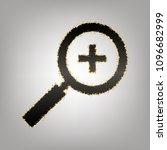 zoom sign illustration. vector. ... | Shutterstock .eps vector #1096682999