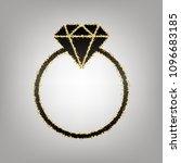 diamond sign illustration.... | Shutterstock .eps vector #1096683185