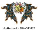 blackwork tattoo elements... | Shutterstock .eps vector #1096683809