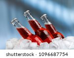 beer bottle on ice | Shutterstock . vector #1096687754