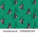 butterfly underwing zebra... | Shutterstock .eps vector #1096690169