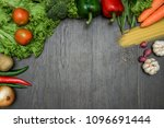 different raw vegetables and... | Shutterstock . vector #1096691444