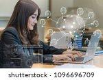 asian businesswoman in formal... | Shutterstock . vector #1096696709