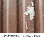 rusty surface of metal plate... | Shutterstock . vector #1096701431