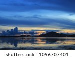 morning sea view colorful | Shutterstock . vector #1096707401