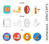 menu  armor with tattoo  darts  ... | Shutterstock .eps vector #1096713971