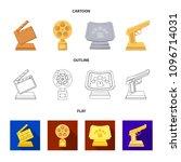 gold pistol  silver prize for...   Shutterstock .eps vector #1096714031