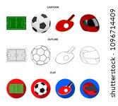 field  stadium with markings... | Shutterstock .eps vector #1096714409