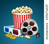 vector illustration of cinema | Shutterstock .eps vector #109671629