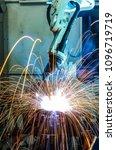 robot welding in automobile... | Shutterstock . vector #1096719719