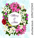 save the date wedding... | Shutterstock .eps vector #1096722545