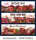 vector banner for fresh farm... | Shutterstock .eps vector #1096723811
