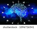 ai  artificial intelligence ... | Shutterstock . vector #1096726541
