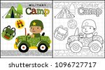 military camp  little soldier... | Shutterstock .eps vector #1096727717