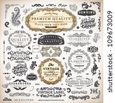 vector set  calligraphic... | Shutterstock .eps vector #109673009