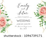 wedding floral invite ... | Shutterstock .eps vector #1096739171