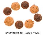 tasty chocolate muffins... | Shutterstock . vector #10967428