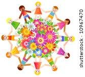 children | Shutterstock .eps vector #10967470