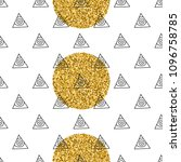triangles and golden circles ... | Shutterstock .eps vector #1096758785
