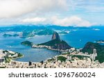 panoramic view of botafogo and...   Shutterstock . vector #1096760024