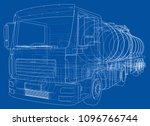 truck with tank concept. vector ... | Shutterstock .eps vector #1096766744
