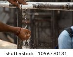 image of washing hand and... | Shutterstock . vector #1096770131