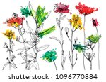 vector background with drawing... | Shutterstock .eps vector #1096770884