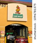 Small photo of FOLSOM, CA, USA - MAY 22, 2018: Quick Quack Drive through car wash.