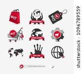 set of global buying icons...