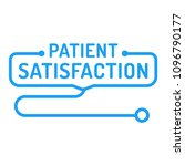 patient satisfaction. badge ... | Shutterstock .eps vector #1096790177