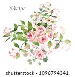 flower arrangement of pink... | Shutterstock .eps vector #1096794341