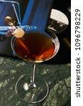 vinyl manhattan cocktail on bar ... | Shutterstock . vector #1096798229