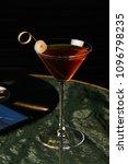 vinyl manhattan cocktail on bar ... | Shutterstock . vector #1096798235