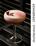 classical katana cocktail on... | Shutterstock . vector #1096804439