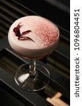 classical katana cocktail on... | Shutterstock . vector #1096804451