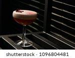 classical katana cocktail on... | Shutterstock . vector #1096804481