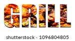 font grill on a natural... | Shutterstock . vector #1096804805