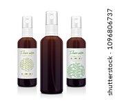 set of realistic brown bottle... | Shutterstock .eps vector #1096806737