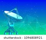 satellite dishes antenna  ... | Shutterstock .eps vector #1096808921