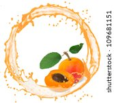 splash with apricot isolated on ... | Shutterstock . vector #109681151