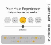 rate your experience help us... | Shutterstock .eps vector #1096828547