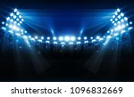football arena field with... | Shutterstock .eps vector #1096832669