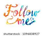 follow me. hand written vector... | Shutterstock .eps vector #1096838927